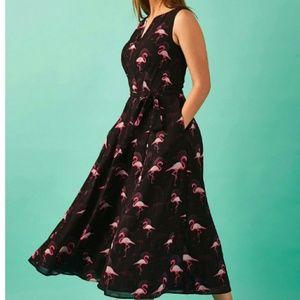 eShakti Flamingo Dress
